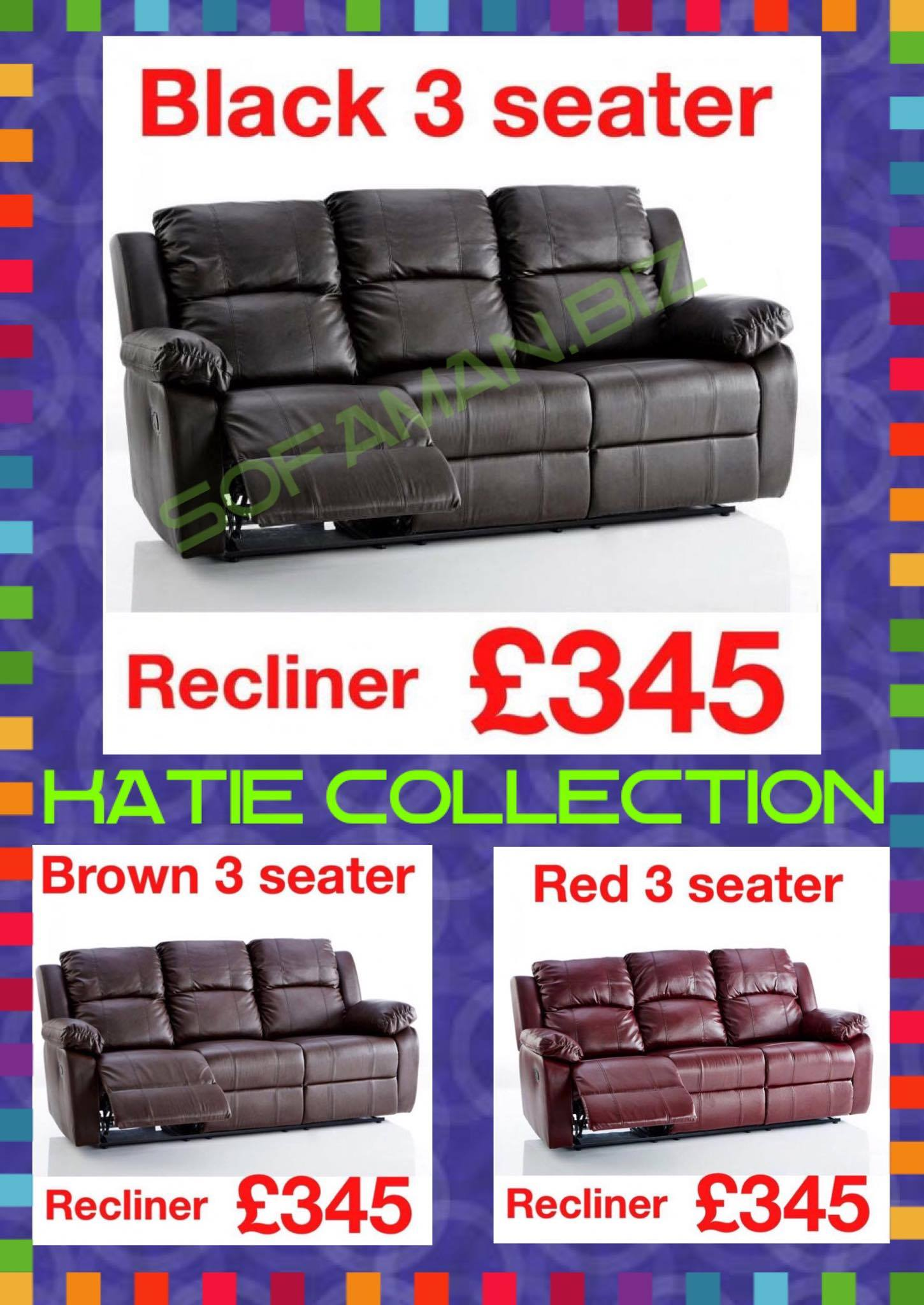Leather Recliner Collection Sofaman