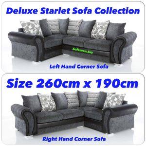 Deluxe Starlet Corner sofa Grey