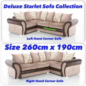 Deluxe Starlet Sofa corner Mink