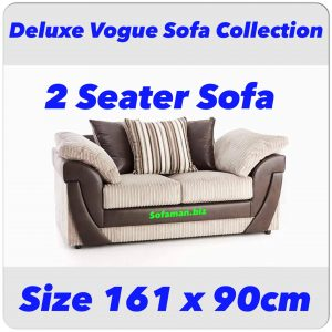 Deluxe Vogue 2 Seater Sofa Combination Brown