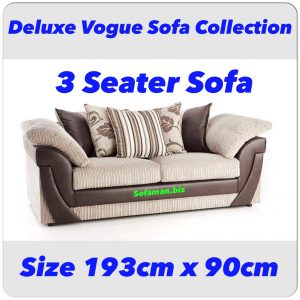 Deluxe Vogue 3 Seater Sofa Combination Brown
