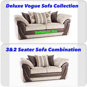 Deluxe Vogue 3&2 Seater Sofa Combination Brown