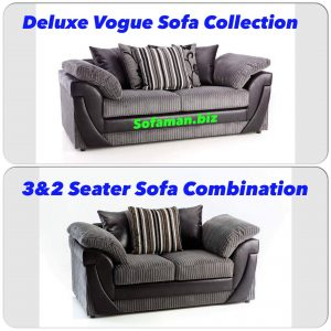 Deluxe Vogue 3&2 Seater Sofa Combination Grey