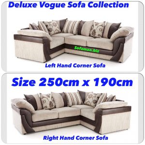 Deluxe Vogue Corner Sofa Brown