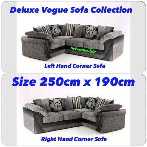 Deluxe Vogue Corner Sofa Grey