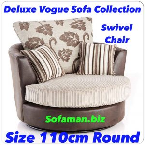 Deluxe Vogue Swivel Chair Brown