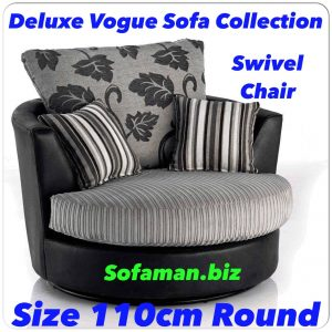 Deluxe Vogue Swivel Chair Grey