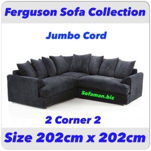 Ferguson Sofa Black Jumbo cord 2c2