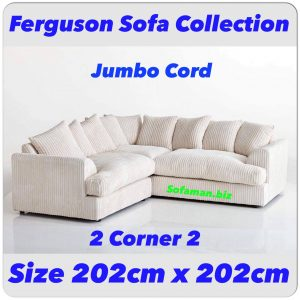 Ferguson Sofa Creme Jumbo cord 2c2