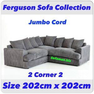 Ferguson Sofa Grey Jumbo cord 2c2