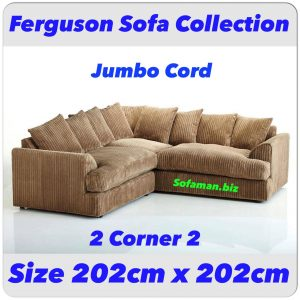 Ferguson Sofa Mink Jumbo cord 2c2