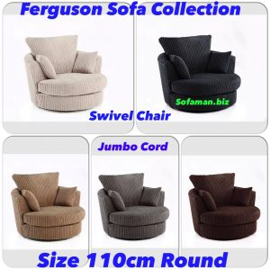 Ferguson Sofa Swivel Chair Jumbo cord