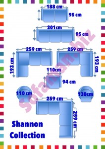 Shannon Sofa Sizes